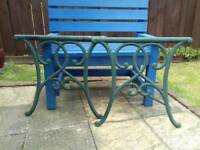 Cast iron table and chair frames