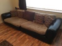 Large curved corner sofa