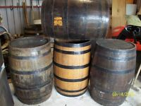 Wooden barrels for sale, would be ideal for smoking areas or as garden feature of for furniture