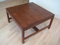 Stylish Original Mid Century Square Teak Coffee Table, 1960s - Very good original aged condition