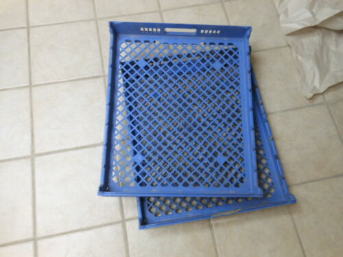 "LEWIS SYSTEMS Blue Plastic Stackable Nesting Bread Trays - 26""L x 22""W x 4""D"