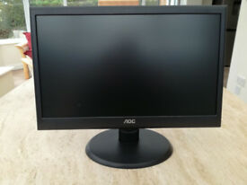 AOC 18.5 Inch LCD Monitor - VGA Port - N950SW - BLACK- As New Condition