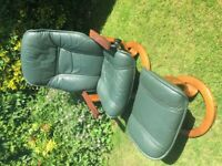 Ekornes Stressless Leather Chair and Footstool