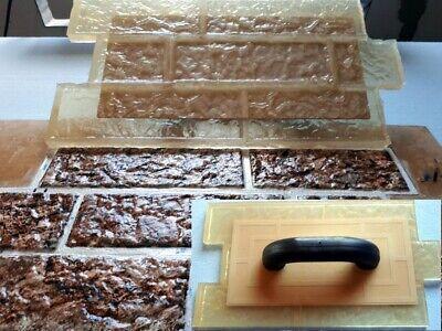 Texture Polyurethane Printing Concrete Cement Plaster Stamps Mats Tools Bricks