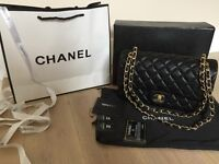 Chanel 2.55 real leather bag. Gold chain