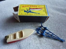 Matchbox Number 48 Meteor Sports boat, excellent condition