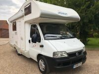 SEA Joint E35 Motorhome 6 Berth Left Hand Drive LHD 2.0 HDi - 2006 Fiat Ducato - Part Ex Welcome