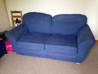 Blue sofa bed for sale