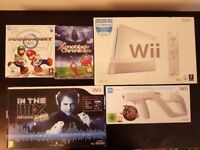 New Nintendo Wii white console and games