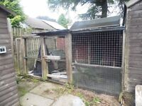 Free to anyone to dismantle and take. Small dog runs made from weld mesh panes