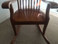 Beautiful quality solid wood rocking chair