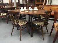 ** ERCOL DINING TABLE & CHAIRS **