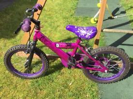 Childs / kids / children's / girls 16 inch bike and helmet