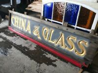 Extra large China & Glass display sign
