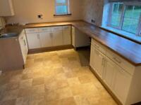 Kitchen cupboards and worktop Ono