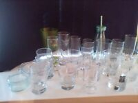 Assorted glassware 39 items