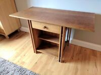 Solid oak desk with drawer