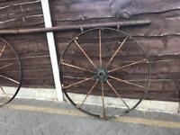 Quirky set of cart wheel gates rare collectible