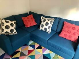 Corner Fabric Double Sofa Bed
