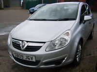 2009 09 CORSA 1.2 LIFE A/C5 DOOR LOW MILAGE 61000 NEW MOT NO ADVISES NICE CAR ONLY £1995