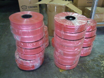 2 X 1500 2 Mil Pink Anti-static Poly Tubing Plastic Make Your Own Bags