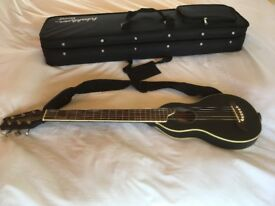 Travel Guitar - Washburn Rover Travel Acoustic Guitar - Black
