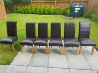 Dining room chairs leather high back