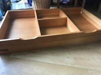 Mamas & papas pine under bed storage drawer