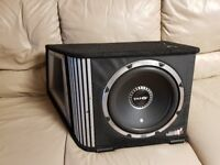 CAR ACTIVE SUBWOOFER VIBE 1600 WATT 12 INCH BLACK AIR WITH BUILD IN AMPLIFIER SUB WOOFER BASS BOX