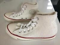 Converse knitted style limited edition boots size 4