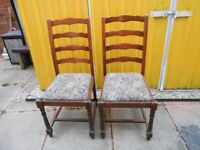 2 Lovely Vintage Chairs - - £5 each - - -