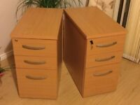 Office desk high pedestal 3 drawers