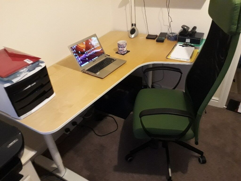 Ikea Corner Office Desk And Chair Bekant Markus On Website Very