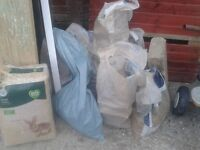 FREE CONCRETE HARDCORE RUBBLE FOR GARDEN LANDSCAPING DRIVEWAY IN 10 SMALL MANAGEABLE BAGS