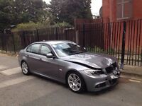 2010 10 BMW 318D M SPORT E90 LCI SALOON GREY LIGHT DAMAGED SALVAGE REPAIRABLE