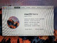 MacBook Pro (Retina 13-inch, Late 2013) 2.6 GHz Intel Core i5, 8GB RAM DDR3, 256Go SSD