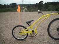 "Boys / Girls Adams Tag Along Bicycle Trailer Bike - 20"" Wheel -With Safety Flag"