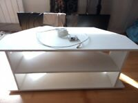 Free to local collection - corner TV/DVD unit white