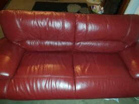 2 3 seater red leather sofas 1 2 seather
