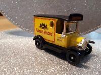 Model Coleman's mustard mini van