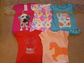 Bundle of girls tops - 12-18 months