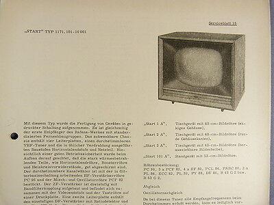 START TYP 1171.101-10001 Fernseher Serviceblatt 15 mit Schaltplan Anleitung DDR