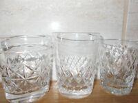 Two Vintage Tudor Crystal 'Seymour' Whiskey Tumblers