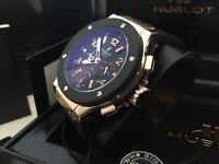 New Swiss Hublot Big Bang King Power Rose gold Automatic Watch, RUBBER STRAP