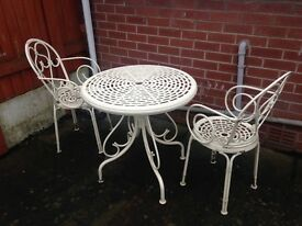 Provençal style garden table and chairs
