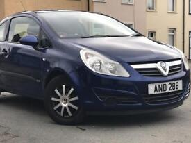 2007 ( 07 ) VAUXHLL CORSA LIFE 1.2 PETROL 3 DOOR BLUE LOW MILEAGE* 100% HPi CLEAR* FINNACE AVAILABLE
