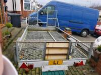 BARGAIN 9FT BY 5FT TRAILER MADE BY APACHE OFFERS OVER £200 CONSIDERD