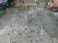 Drums - Light/Medium Weight Cymbal Stands - 7 Available