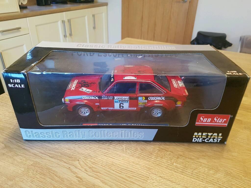 FORD ESCORT MK2 RALLY CAR MODELS 1:18 RARE SUNSTAR AUTOART ...