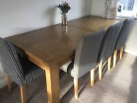 Next Oak Dining Table and chairs